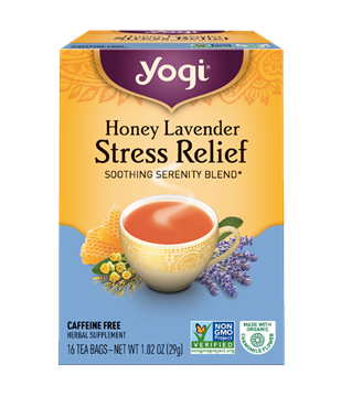 Imagen de Yogi Tea, Stress Relief Honey Lavender
